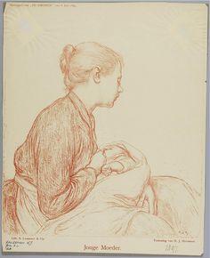 Jonge moeder, 1897. Hendrik Haverman