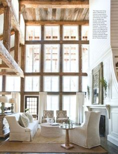 I love the beams in between the windows