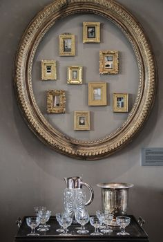small picture collection decor idea ~ anotherboheminan: Alex MacArthur Interiors - Open House (by Kotomi_) Empty Frames, Frames On Wall, Empty Picture Frames, Decorative Accessories, Home Accessories, Do It Yourself Decoration, Wall Decor, Room Decor, Interior Decorating