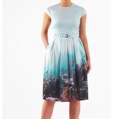 Eshakti Ocean Print Dress