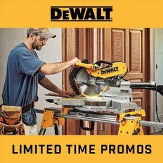 Limited time promos from DeWalt... Guaranteed Tough! #dewalt #acmetools #buildsomething