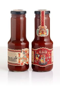 BBQ Chilli - Packaging by Steve Simpson, via Behance
