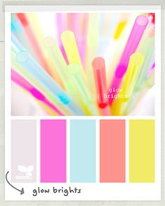Glow Brights: 8 Palettes from Design Seeds by decor8, via Flickr