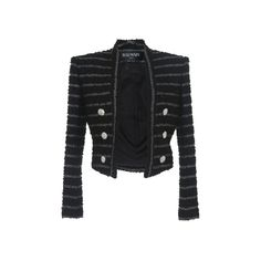 Tweed Stripe Jacket | Moda Operandi (65.745.400 VND) ❤ liked on Polyvore featuring outerwear, jackets, collarless tweed jacket, tweed jackets, stripe jacket, collarless jacket and striped jacket