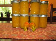 Hot Habanero Mustard Recipe - 1 c white vinegar; 1 c all purpose flour; Hot Pepper Recipes, Hot Sauce Recipes, Canned Hot Sauce Recipe, Habanero Recipes, Homemade Mustard, Homemade Pickles, Chile, Ghost Peppers, Spice Mixes