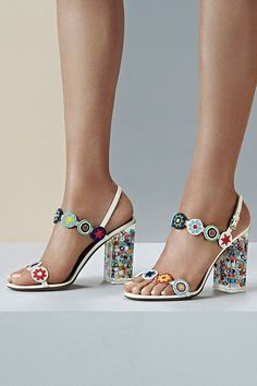 These resort 2016 heels are like a party for your feet