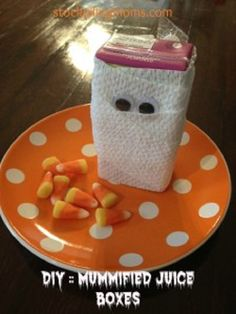 7 DIY Halloween Crafts for Kids. Juice boxes for a class snack at school!