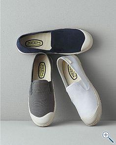 keen | santiago cotton canvas slip-on shoes