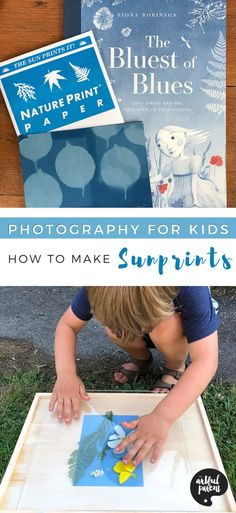 How to Make Sunprints for Kids (& Who Was Anna Atkins?) Painting Activities, Summer Activities For Kids, Creative Activities, Craft Activities, Toddler Activities, Crafts For Kids To Make, Art For Kids, How To Make, Kid Crafts