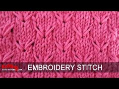Knitting Stitch Embroidery Patterns : The Crest of the Wave :: Knitting Stitch :: New Stitch a Day ????? Pinter...