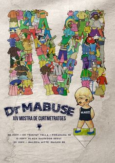 Cartel XIV Mostra Dr. Mabuse 2015 Autor: Dito Peanuts Comics, Cinema, Poster, Author, Movies, Movie Theater
