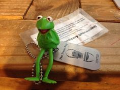 Kermit the Frog Travel bug.  I wonder if he knows Signal.  :)