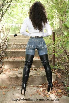 Knee High Heels, Thigh High Boots, High Heel Boots, Lady Annabelle, Long Boots, Dominatrix, Hottest Models, Sexy Body, Thigh Highs