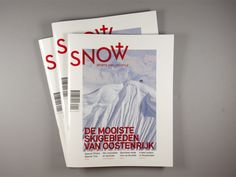 Snow – Magazine by Studio Pino, via Behance