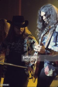 Ronnie Van Zant~ and guitarist Gary Rossington from Lynyrd Skynyrd ...