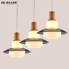[СН] современный минималистский ресторан лампы Светодиодные лампы творческая личность, художественное деревянные люстры трехразовое питание люстры -tmall.com Lynx