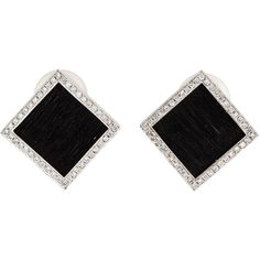 Pre-owned Yvel Ethiopia Clip-On Earrings ($3,500) ❤ liked on Polyvore featuring jewelry, earrings, accessories, brincos, pre owned jewelry, black white earrings, 18k earrings, 18k jewelry and yvel jewelry