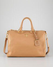 Daino Zip-Top Medium Tote Bag, Natural