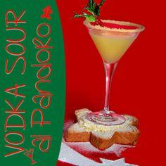 """Cocktail Alcolico """"Vodka Sour al Pandoro""""   Ingredienti: 1 ½ oz di Russian Standard Vodka 1 oz di sweet and sour ½ oz di succo di arancia 100 gr di zucchero 50 ml di acqua 60 gr di pandoro  Categoria: Straight up Bicchiere: Coppa Cocktail Guarnizione: Vischio, ribes,zucchero a velo  Per la ricetta completa visita http://www.planetone.it/vodka-sour-al-pandoro/"""