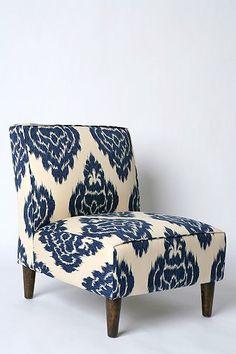 Slipper Chair - Indigo Ikat Urban Outfitters