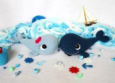 Wat een leuke kleine vrolijke walvis is dit! Heel erg leuk patroon van Amigurumi Today waar je blij van wordt.