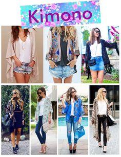 Inspiração - Looks com kimono