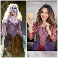 Rosanna Pansino dressed as 'Sarah Sanderson' from Hocus Pocus