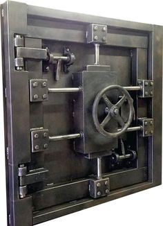 Industrial Lockers, Industrial Style, Industrial Cafe, Metal Furniture, Industrial Furniture, Safe Door, Safe Vault, Gate Hinges, Vault Doors