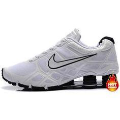 We Offer Discount Nike Shox Men White Black Shoes Global Sales 0346e3309a52