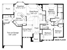 Bungalow House Plan 97743 Level One