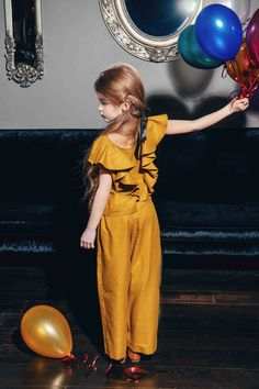 Gold playsuit from the fall 2014 Magic Bird collection by Latvian kidswear label Aristocrat Kids