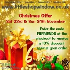 #Christmas #Offer- Enter the given code and receive flat 10% #discount on your order.