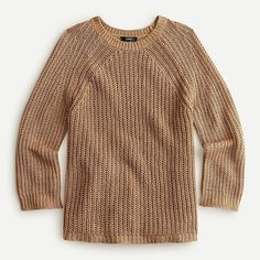 Relaxed-fit linen beach sweater