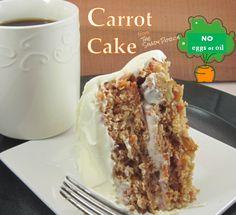 Carrot Cake Recipe: Easy - Healthier No Eggs, No Oil #recipe