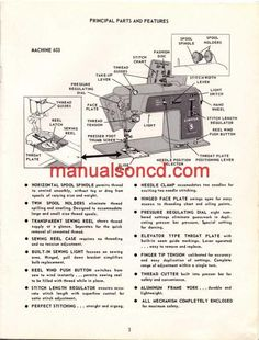 Singer 603 Sewing Machine Instruction/Owners Manual Pdf 2