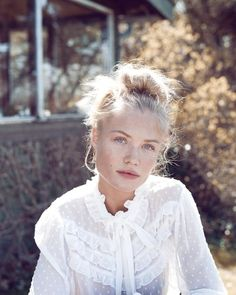 Model Camilla Christensen delights in a simple pleasures editorial styled by Mie Juel. Photographer Sean McMenomy flashes Camilla for Elle Denmark's August 2017 issue./ Makeup by Mette Schou; hair by Henrik Haue Camilla, Pretty People, Beautiful People, Portrait Photography, Fashion Photography, Glamour Photography, Lifestyle Photography, Editorial Photography, Natural Blondes