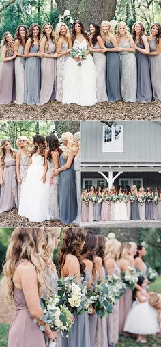 neutral colors mismatched bridesmaid dresses for 2018