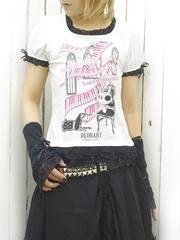 Puff Sleeve Cat Cutsew White x Pink. See more at http://www.cdjapan.co.jp/apparel/deorart.html #harajuku #punk