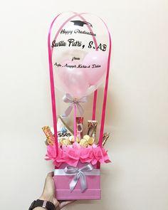 Hot air balloon choco candy bouquet