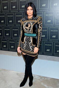 Kylie Jenner #HMBALMAINATION http://en.louloumagazine.com/celebrity/celebrity-fashion-looks/hot-celeb-fashion/ / http://fr.louloumagazine.com/stars/looks-de-stars-mode-stars/