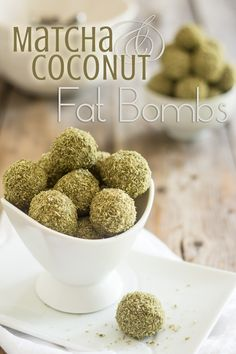 Matcha Coconut Fat Bombs | thehealthyfoodie.com