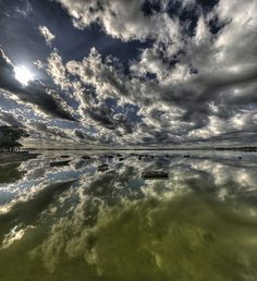 Reflections at the Lagoon by Luis Argerich