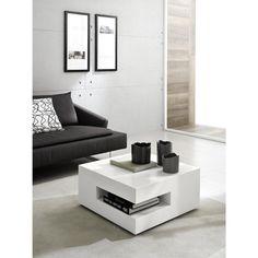 Table basse design square - laque blanc - deco Zamagna | La Redoute