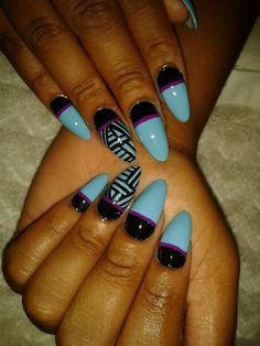 #nails #stilettos #tribal #love
