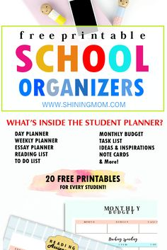 Click to view the over 20 student organizing printables that are perfect to help you get started this back-to-school season! #freeprintables #freeplanners #school #student