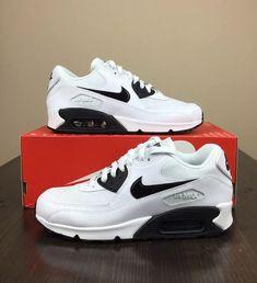 3ccc5bb81eb Nike Air Max 90 Essential (616730-110) White Black Women s Size 8