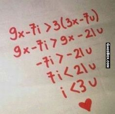 A nerdy kinda valentine with equations and the whole works!
