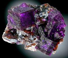 Fluorite with Sphalerite -- Elmwood Mine, Smith County, Tennessee
