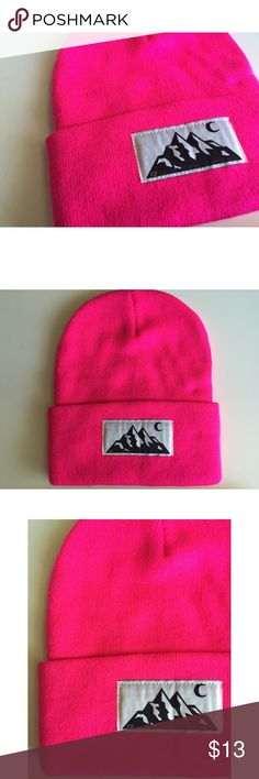 Brand New CakeFace Co. PNW Beanie Brand new fluorescent pink beanie from Cake Face Co. No tags were included. Cake Face Co. Accessories Hats