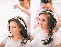 Bridal deadpiece, diy paper flower bridal crown, amazin bride! deadpiece by Christine paper design.
